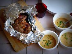 Bondiola al horno… en tres horitas. Cena Show, Meals, Chicken, Dinner, Vegetables, Cooking, Breakfast, Food, Salads
