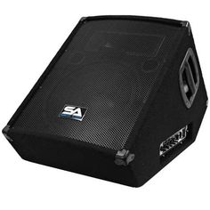 Seismic Audio - - Powered Floor / Stage Monitor Wedge Style with Titanium Horn - 300 Watts RMS - PA/DJ Stage, Studio, Live Sound Active 12 Inch Monitor Dj Stage, Sound Stage, Metal Grill, Home Audio Speakers, Black Carpet, Daisy Chain, 2 Way