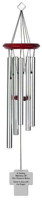 Chimesofyourlife ch-cross-19-silver Child Holy Cross Memorial Wind Chime, 19-Inch, Silver #WindChimes #Silver #Chimesofyourlife