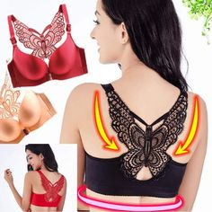 This Handmade Butterfly Embroidery Front Closure Wireless Bra is the Ideal Fashion Dressing for Ladies!