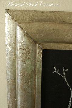 Zinc Frame…or is it?  Tin foil with Valspar asphaltum glaze