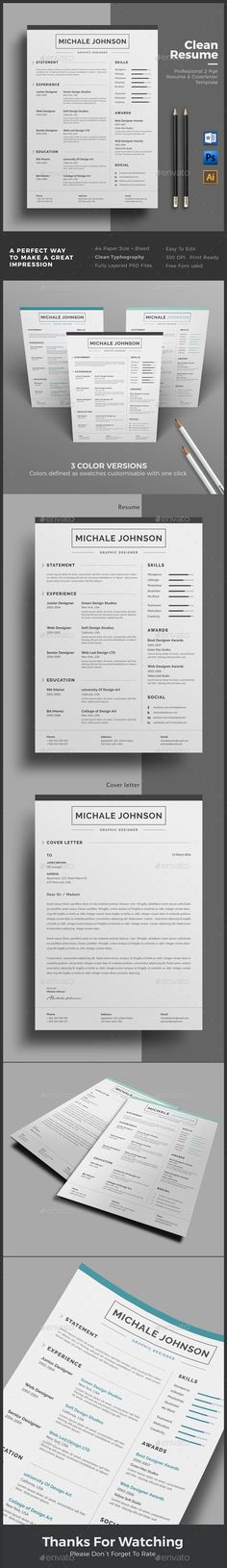 CV Word Letter size, Minimal and Template - how to make a good resume on word