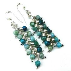 6a2611ef924 Turquoise Tassel Chain Black Crystal Earrings. As Seen On TV Jane The  Virgin Sterling Silver Turquoise Braided Dangle Earrings Earrings Lexi  Butler Designs