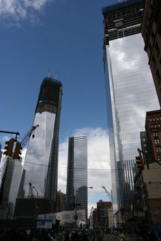 1, 7, 4 World Trade Centers (left to right)
