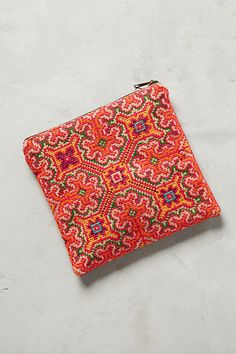 Thinking Pink Embroidered Pouch