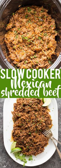 healthy crockpot recipes This all purpose Slow Cooker Mexican Shredded Beef is great for tacos, burritos and more! Quick and easy prep work and the crock pot does the rest. Crock Pot Tacos, Slow Cooker Tacos, Crock Pot Slow Cooker, Tamale Meat Recipe Crock Pot, Crock Pots, Crock Pot Beef, Slow Cooker Barbacoa, Paleo Recipes, Mexican Food Recipes