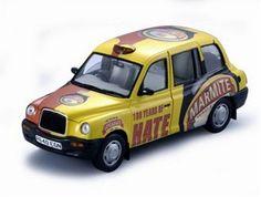 Diecast Model Austin Taxi Marmite in Yellow