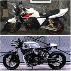 Before & After. Honda CB
