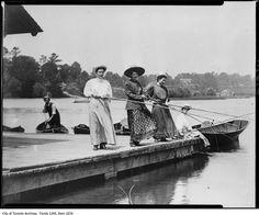 Image: William James, Four women fishing. Oakville, Ontario, Canada (ca Fishing Photos, Fly Fishing Tips, Fishing Humor, Best Fishing, Fishing Trips, Fishing Tackle, Fishing Stuff, Walleye Fishing, Fishing Lures