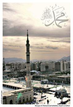 Beautiful Mosques, Beautiful Places, Masjid Haram, Medina Mosque, Mekkah, Islamic Wallpaper, Islamic Teachings, Islamic Architecture, Madina