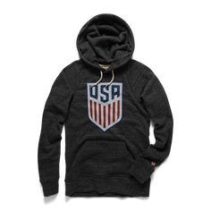 There's more than one way to play football in the US of A, and we're repping the Red, White and Blue's success on the soccer field with this super-soft hoodie. Soccer Gear, Us Soccer, Play Soccer, Soccer Stuff, Rocky Boots, Soccer Hoodies, Usa Gear, Movie Tees, Colorful Hoodies