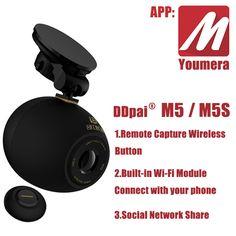 DDPai M5&M5s Youmera HD 1080P wide angle night vision car DVR camera recorder Wi-Fi Mini Recorder Remote Capture Wireless Button