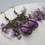 Butterfly Song Earrings, purple - by Starzyia on madeit the symbolic butterfly is linked with love, liberty and life eternal