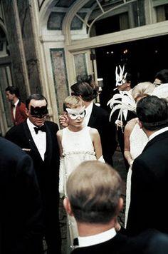 Masquerade - Mia Farrow & Frank Sinatra at Truman Capote's ball