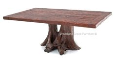 Log Dining Table, Stump Table, Tree Base Table, Rustic Cabin | Woodland Creek Furniture