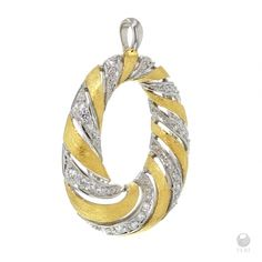 - Exclusive FERI 950 Siledium silver  - Exclusive dual natural rhodium and palladium plating  - Set with exclusive FERI Swan cut lab stones  - Colour: two tone  - 3 micron 22 karat yellow plated gold  - Dimension: 35mm x 26mm      Invest with confidence in FERI Designer Lines.    www.feridesignerlines.com/nancymcleod | Shop this product here: spreesy.com/nancymcleod/46 | Shop all of our products at http://spreesy.com/nancymcleod    | Pinterest selling powered by Spreesy.com