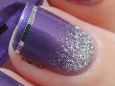 Quand Jimmy Choo m'inspire... - Jimmy Choo Flash (London Club) - Striping Tape - Glitter Gradient - Layla Ceramic Effect 71 Splendid Lilac