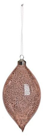 "6.5"" Vintage Shiny Dusty Rose Mercury Glass Finial Christmas Ornament"