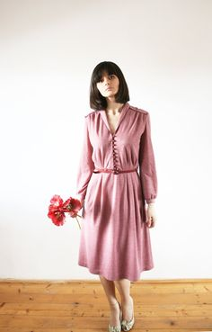 Vintage 60's preppy dress Fall dress Great by selenefashion