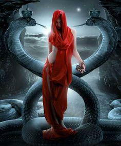 Awesome Fantasy Digital Art Women Wallpapers by Sasha Fantom Snake Girl, Rapper, Mystery, Year Of The Snake, Divine Feminine, Sacred Feminine, Gods And Goddesses, Dark Fantasy, Fantasy Women
