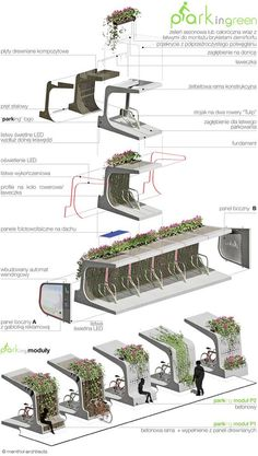 Modular green bike rack by Mala Architektura. Click image for full profile and visit the slowottawa.ca boards >> http://www.pinterest.com/slowottawa: