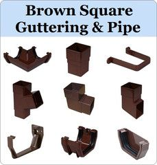 Virtual Plastics Ltd. Brown Square Gutter and Downpipe Range from £3.49