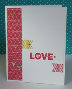 A simple card using Love You to the Moon stamp set and Kaleidoscope Designer Series Paper from Stampin' Up's 2014 Occasions Catalog.  For more info, contact me through http://lindamadison.stampinup.net.