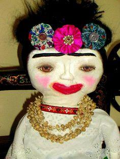 Prim Style Art Doll Frida Kahlo  Rag Doll by MysticHillsNgaroma