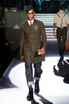 Military inspired look by Dsquared Men Collection Fall 2013