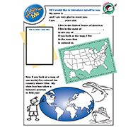 About Me Page for FBC kids to fill out and put inside their packed boxes.