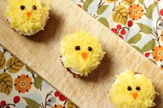 Maple Carrot Cupcakes with Buttercream and Coconut (Chick Cupcakes) via Elsa Cooks