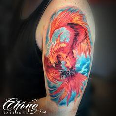 #tattoo #tattoos #tatted #tattooed #tattooart #art #tattooartist #artist #tatts #tattooing #tattooist #tattooink #tattooer #ink #inked #inkedup #inklife #color #colortattoo #phoenix #fire