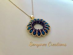 Bead Tutorial - Component Tutorial with Rocailles Beads and Spring Onions - Tuto . Seed Bead Tutorials, Beading Tutorials, Seed Bead Jewelry, Pendant Jewelry, Gold Jewelry, Jewelry Rings, Beaded Rings, Beaded Bracelets, Necklaces