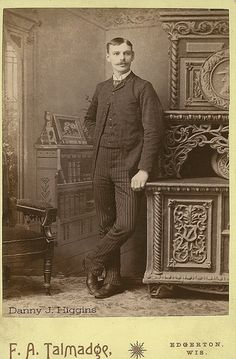 Handsome Man Standing Next To A Cabinet. Edgerton, Wisconsin. SCAN6074 | Flickr - Photo Sharing!