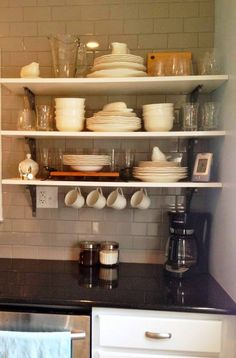 Open Shelving In Our Newly Remodeled Kitchen!