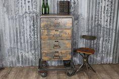 Original vintage industrial chest of drawers #retrosideboard #practicalandstylish