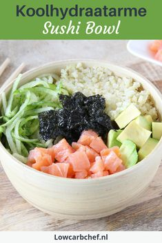 Poki Bowl, Asian Recipes, Healthy Recipes, Sushi Bowl, Low Carb Meal Plan, Dessert For Dinner, Vegan Foods, Food Inspiration, Meal Planning