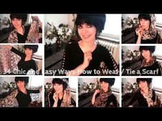 34 Chic and Easy Ways How to Wear / Tie a Scarf | Jennifer Kaya - YouTube Thank you so much for watching! Please make sure to LIKE and SHARE the video and Subscribe to the channel for new fashion videos and vlogs every week :)  Be happy & look fabulous!  Jennifer Kaya  FOLLOW ME :) #fashion #fashionbloger #vlogger #blog #blog #scarf #style #fashiontip #beauty #style #outfit #stylish