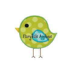 Digitial Machine Embroidery Design   Bird by FairytaleApplique, $4.00