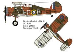 Gloster Gladiator Mk II Fighter Free Aircraft Paper Model Download