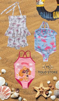 Wouldn't be summer without a beach scene. Delightful little girl's swimsuits available now at YOLO Store. Little Girl Swimsuits, Kids Swimming, Beach Scenes, Kids Hats, Yolo, Little Girls, Store, Summer, Baby