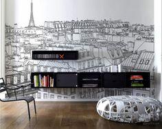 Fotobehang Parijs – inspiratie fotobehang,  interieur galerij• pixers.nl