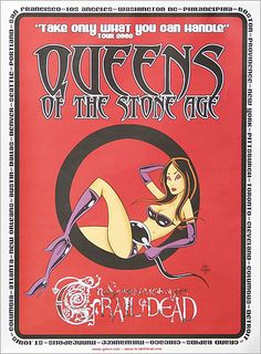 Queens Of The Stone Age Take Only What You Can Handle - Tour 2002 USA poster