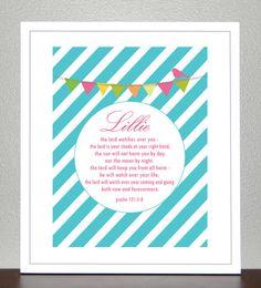 Baby Dedication  Baptism Gift  Bible Verse  by CreativeWildChild, $20.00