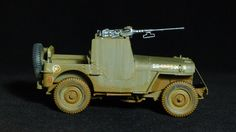 1/35 scale CyberHobby kit, Armored Jeep with .50 MG