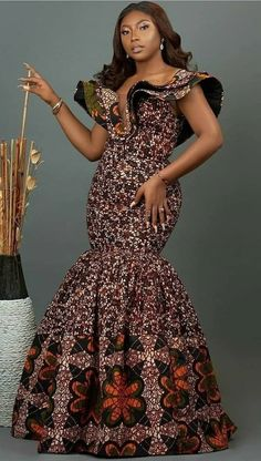 African Party Dresses, Short African Dresses, Latest African Fashion Dresses, African Print Fashion, African Print Dresses, Long Dresses, Ankara Fashion, Fashion Prints, African Attire