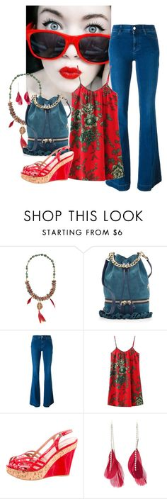 """Red For You"" by joybug9 ❤ liked on Polyvore featuring SkinCare, Deepa Gurnani, MANU Atelier, STELLA McCARTNEY, Alaïa and Charlotte Russe"