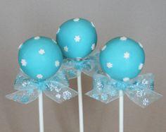 12 Copos de nieve Cake Pops - para regalo Winter Wonderland, boda, anfitriona o maestro, congelados partido Disney, cumpleaños o bebé ducha ...