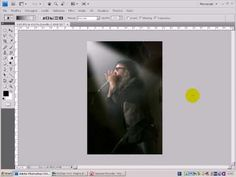 Photoshop Tutorial - How to create a light beam - English subtitles - YouTube