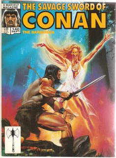 Savage Sword of Conan Volume 1 1987 Marvel Comics Haunted Wood Nightmare for sale online Red Sonja, Comic Book Covers, Comic Books Art, Character Drawing, Comic Character, Caricature, Conan O Barbaro, Conan Der Barbar, Marvel Magazine